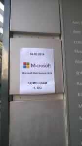Microsoft Web Summit 2014 Eingang