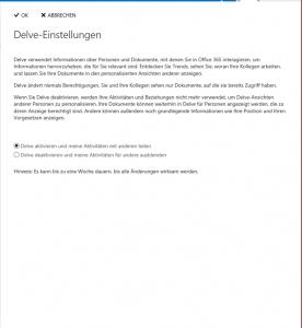 Delve_user_einstellungen