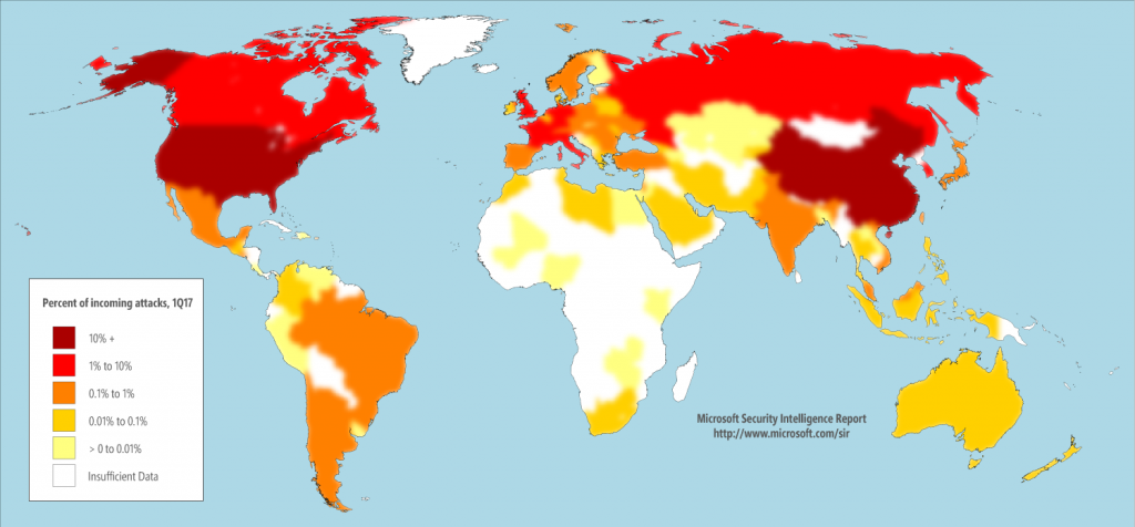 Karte ueber Cybersecurtity