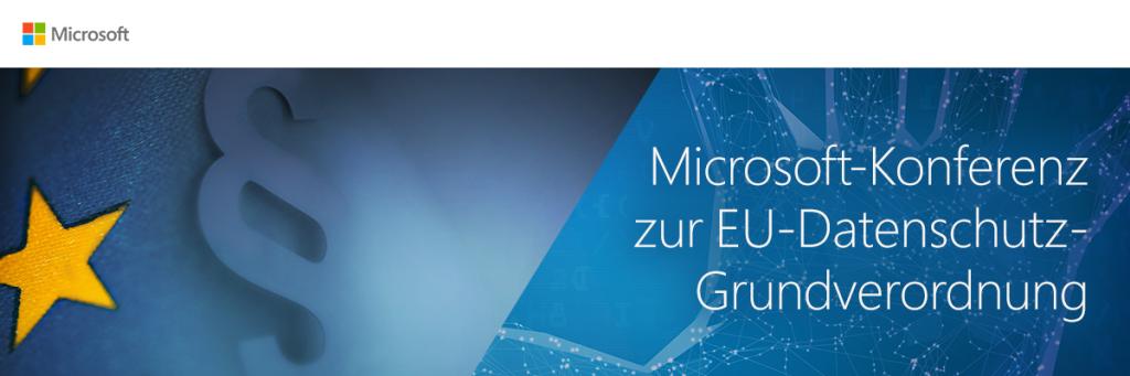 Microsoft DSGVO Konferenz